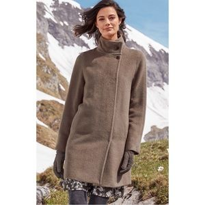 Cole Haan alpaca car coat
